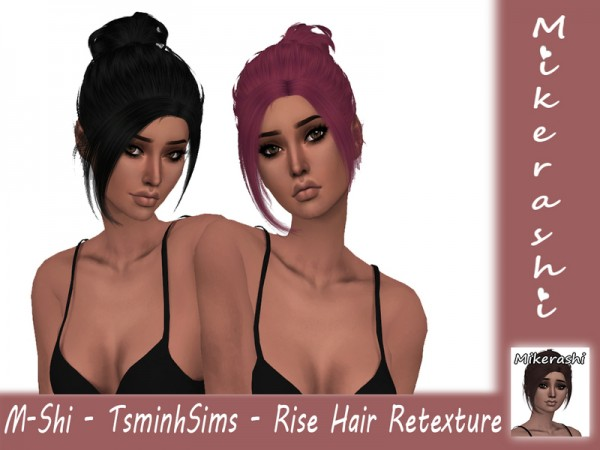 The Sims Resource: TsminhSims   Rise Hair Retextured by mikerashi for Sims 4