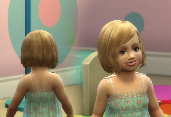 Mystufforigin: Vitality hair for toddlers for Sims 4