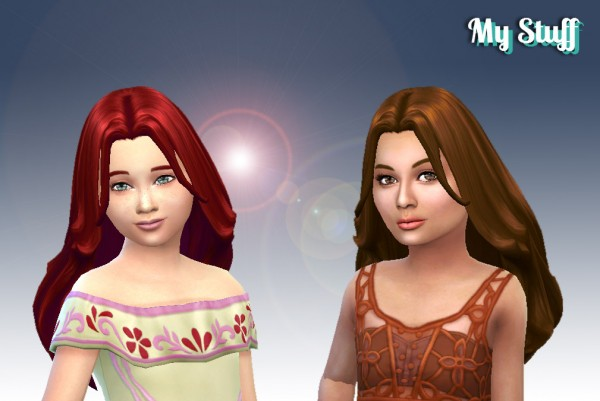 Mystufforigin: Madeline Hairstyle for Girls for Sims 4
