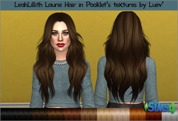 Mertiuza: LeahLillith`s Laurie hair retextured for Sims 4