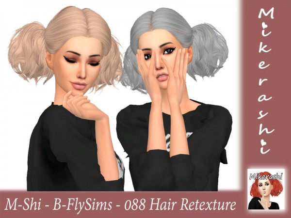 The Sims Resource: B FlySims 088 Hair Retextured by mikerashi for Sims 4