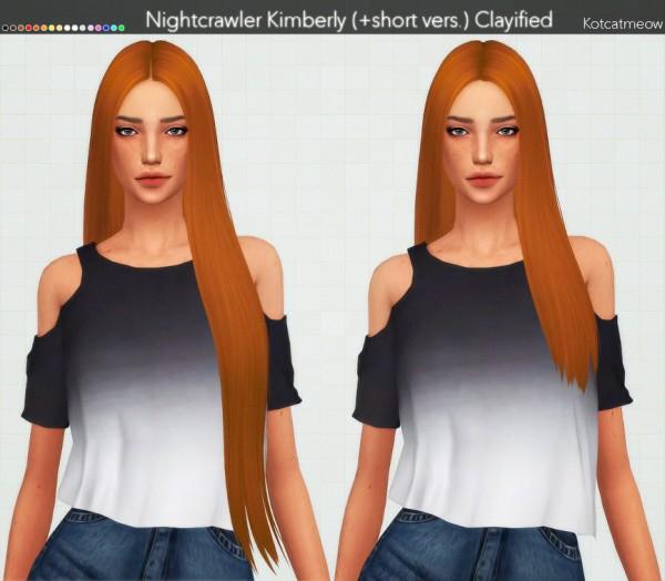 Kot Cat: Nightcrawler`s Kimberly hair retextured for Sims 4
