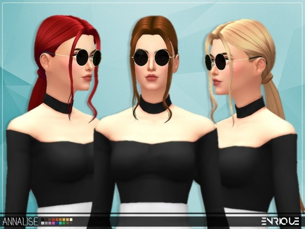 The Sims Resource: Enrique`s Annalise Hair retextured by Jruvv for Sims 4