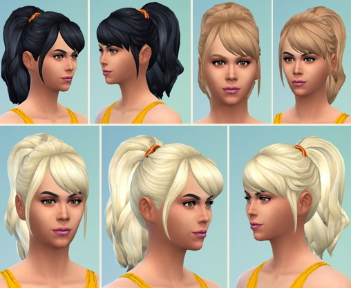 Birksches sims blog: Meriana Ponytail hair for Sims 4