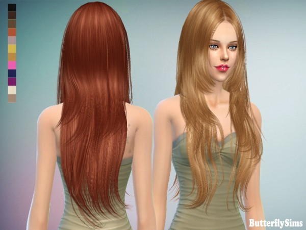 Butterflysims: Hair 018 CF NO hat for Sims 4
