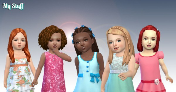 Mystufforigin: Toddlers Hair Pack 8 for Sims 4