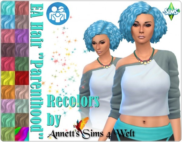 Annett`s Sims 4 Welt: Parenthood hair recolors for Sims 4