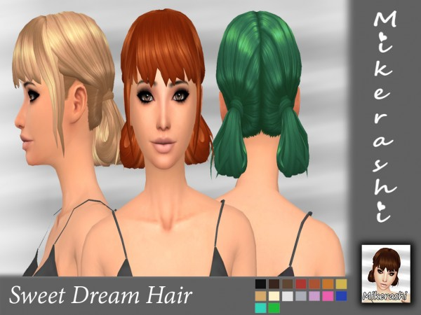 Mikerashi: Sweet Dream hair retextured for Sims 4
