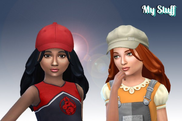 Mystufforigin: Madeline Hairstyle for Girls for Sims 4