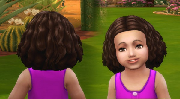 Mystufforigin: Funny Twists hair for Toddlers for Sims 4