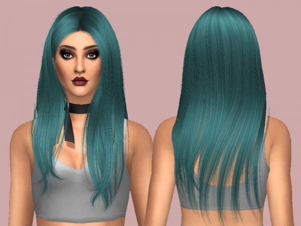 The Sims Resource: Wingssims   OS0530 hair retextured by Rebellesims for Sims 4