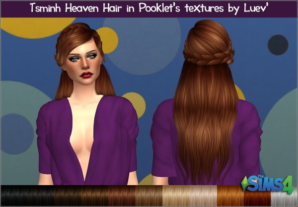 Mertiuza: Tsminh`s Heaven hair retextured for Sims 4