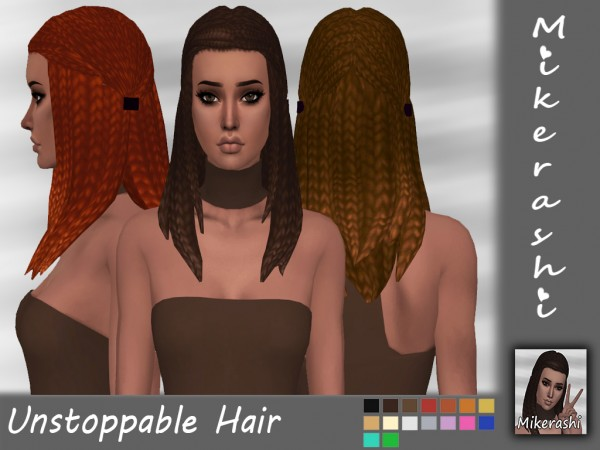 Mikerashi: Unstoppable Hair for Sims 4