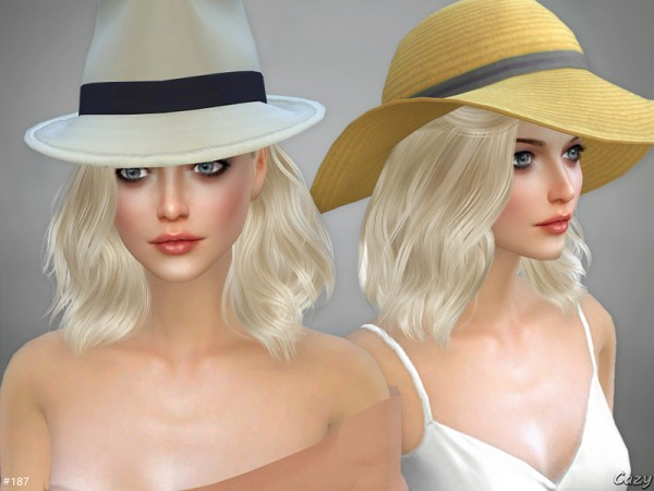 The Sims Resource: Haley hair by Cazy for Sims 4