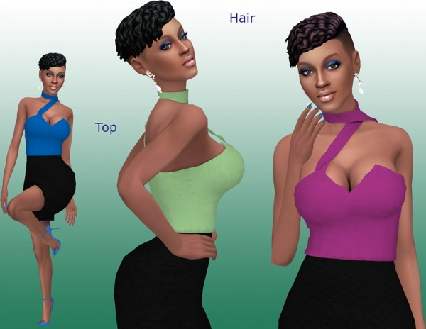 Sims Fun Stuff: Grimcookie`s Sebastian Hair retextured for Sims 4