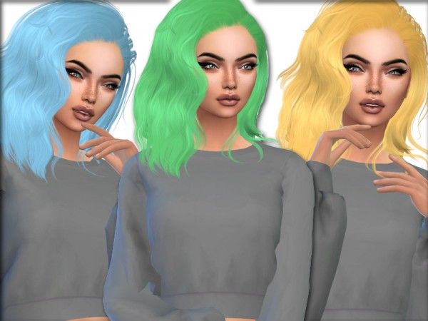 The Sims Resource: Sintikila`s Queen hair recolored by xLovelysimmer100x for Sims 4