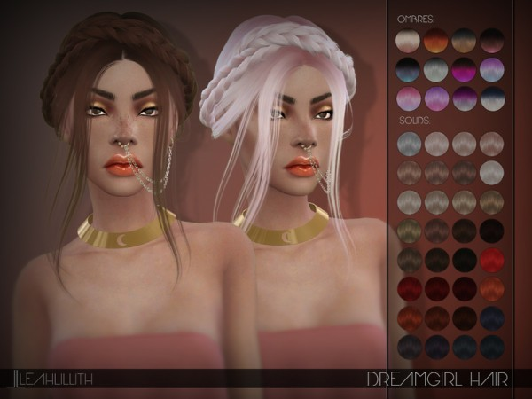 The Sims Resource: Dreamgirl Hair by LeahLillith for Sims 4