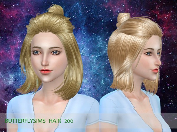 Butterflysims: Hair 200 for Sims 4