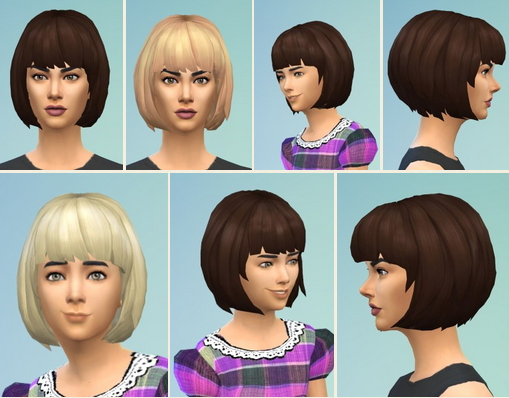 Birksches sims blog: Bibby's Bob hair for Sims 4