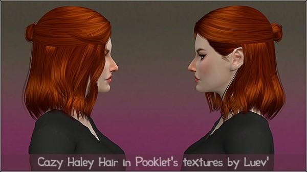 Mertiuza: Cazy`s hHaley hair retextured for Sims 4