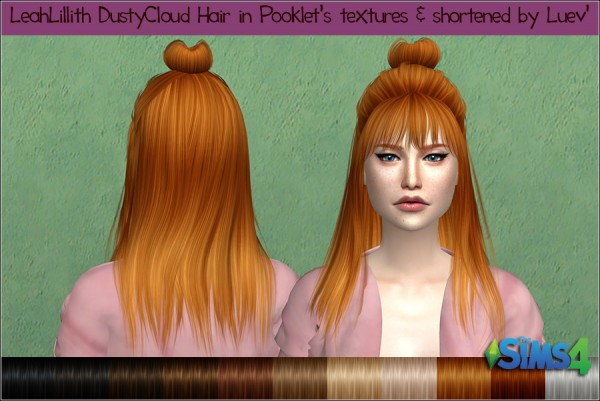 Mertiuza: Leahlillith`s Dusty Cloud hair retextured for Sims 4