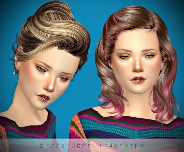Jenni Sims: Newsea`s Sandra and Uproar Hairs retextures for Sims 4