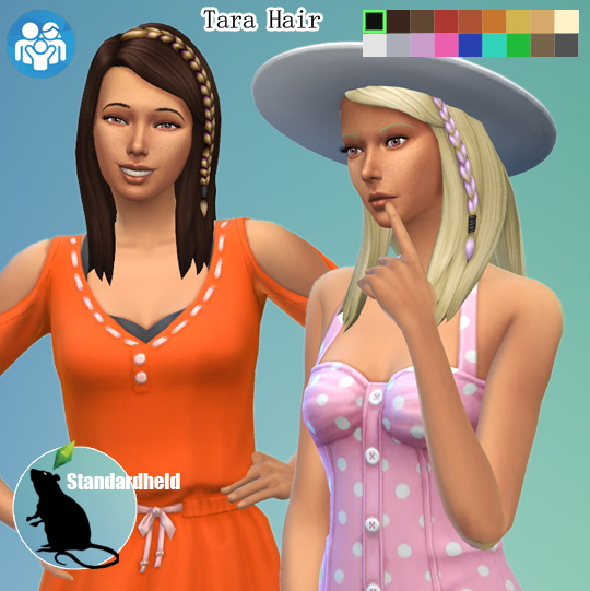 Simsworkshop: Tara hair retextured by Standardheld for Sims 4