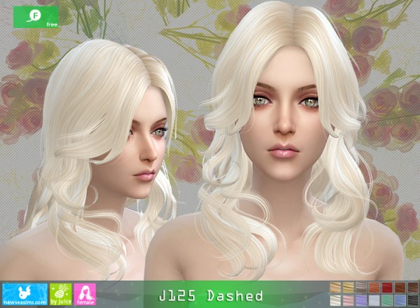NewSea: J125 Dashed hair for Sims 4