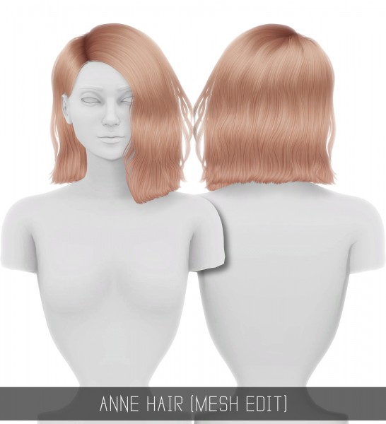 Simpliciaty: Anne hair for Sims 4