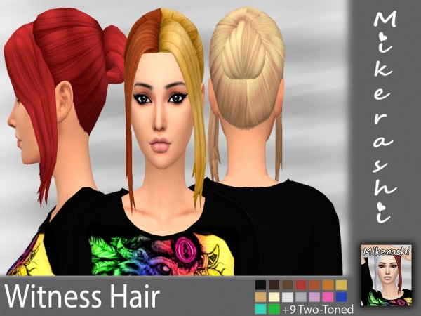 Mikerashi: Witness Hair for Sims 4