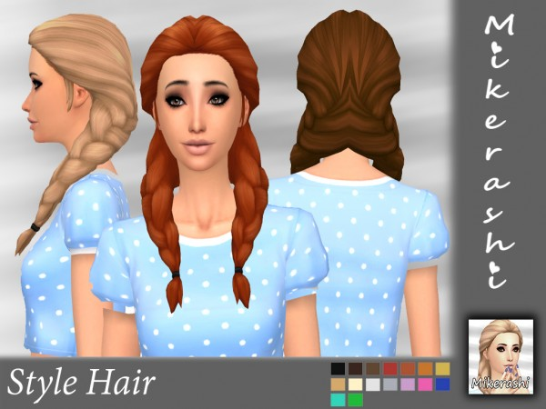 Mikerashi: Style Hair retextured for Sims 4