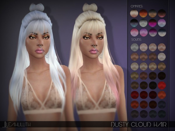 The Sims Resource: Dusty Cloud Hair by LeahLillith for Sims 4