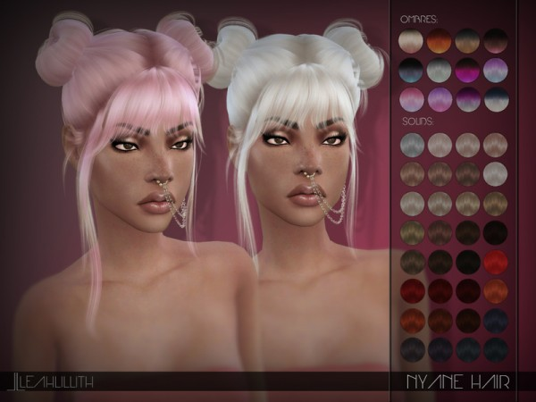 The Sims Resource: Nyane Hair by Leah Lillith for Sims 4