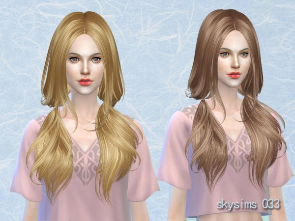 Butterflysims: Hair 033 by Skysims for Sims 4