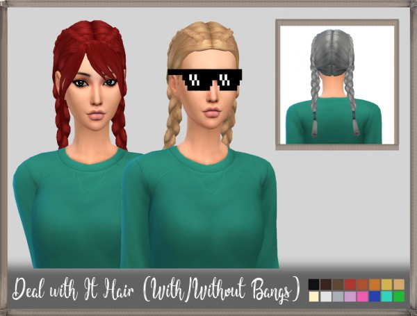 Mikerashi: Deal With It Hair for Sims 4
