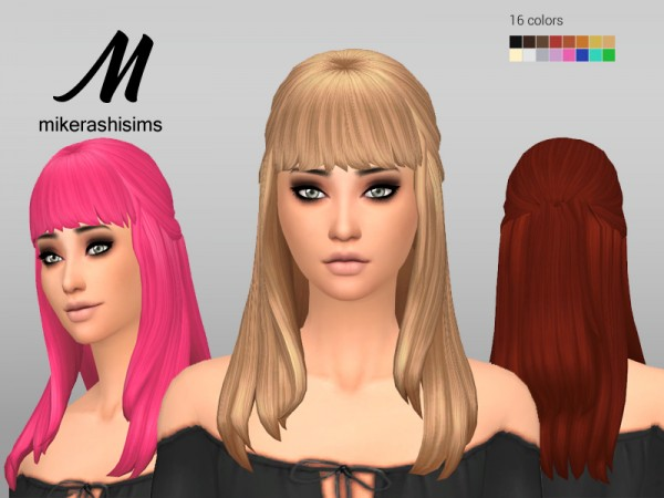 Mikerashi: Attention Hair for Sims 4