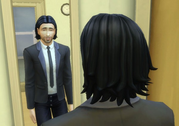 Mystufforigin: James hair for Sims 4