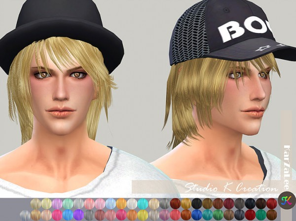 Studio K Creation: Animate hair 26 Kenji for Sims 4