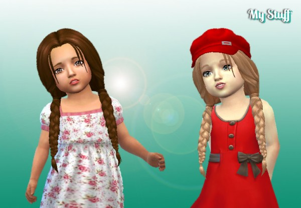 Mystufforigin: Maddison Hairs for Toddlers for Sims 4