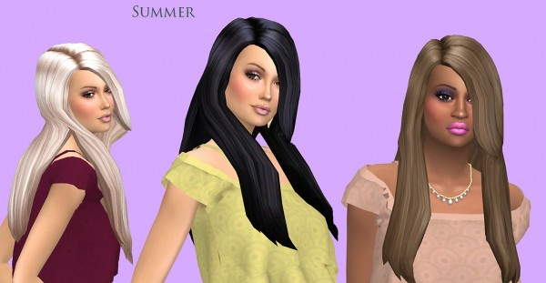 Sims Fun Stuff: Summer Hair Recolor for Sims 4