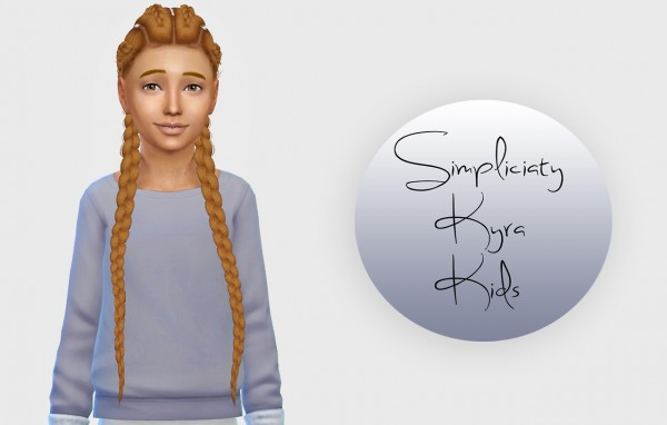 Simiracle: Kyra hair retextured for girls for Sims 4