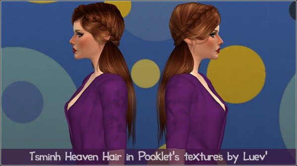 Mertiuza: Tsminh`s Heaven hair retextured for Sims 4