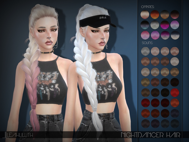 Sims 4 Hairs The Sims Resource Nightdancer Hair By Leah