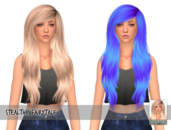 Nessa Sims: Stealthic`s Fairytale, Sanctuary, Newsea` Viola and Nightcrawler`s Kylie hairs retextured for Sims 4