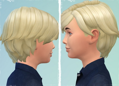Birksches sims blog: Boy's Side Play Hair for Sims 4