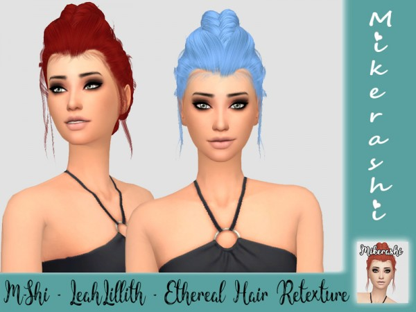 The Sims Resource: LeahLillith`s Ethereal Hair Retextured by mikerashi for Sims 4