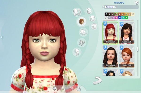 Mystufforigin: Renewal Braids for Toddler for Sims 4