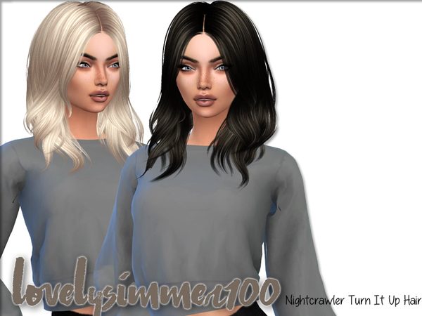Simsworkshop: Nightcrawler`s Turn It Up hair recolored by xLovelysimmer100x for Sims 4
