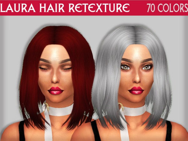 The Sims Resource: Laura hair retextured by Sharareh for Sims 4