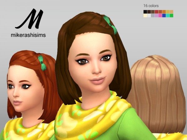 Mikerashi: Sensitive Hair for girls for Sims 4